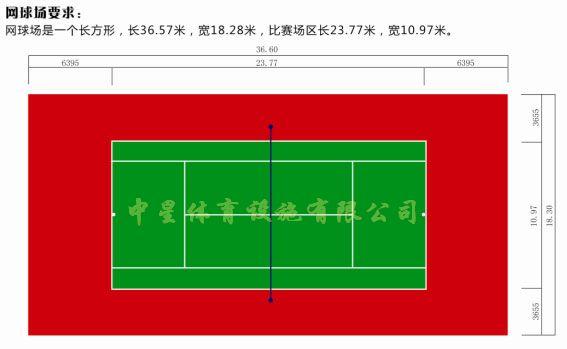 网球场地标准尺寸图,网球场地标准尺寸